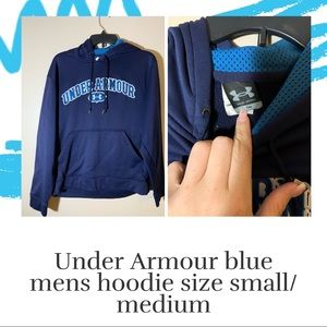 Blue men's under armour hoodie